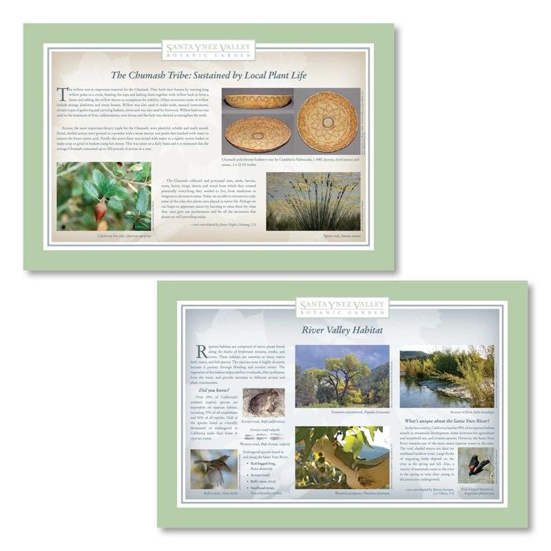 Santa Ynez Valley Botanic Garden Signage