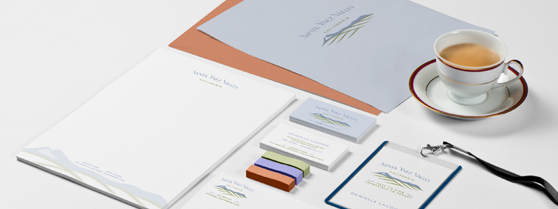 Identity System design for Santa Ynez Valley California by Croff Creative